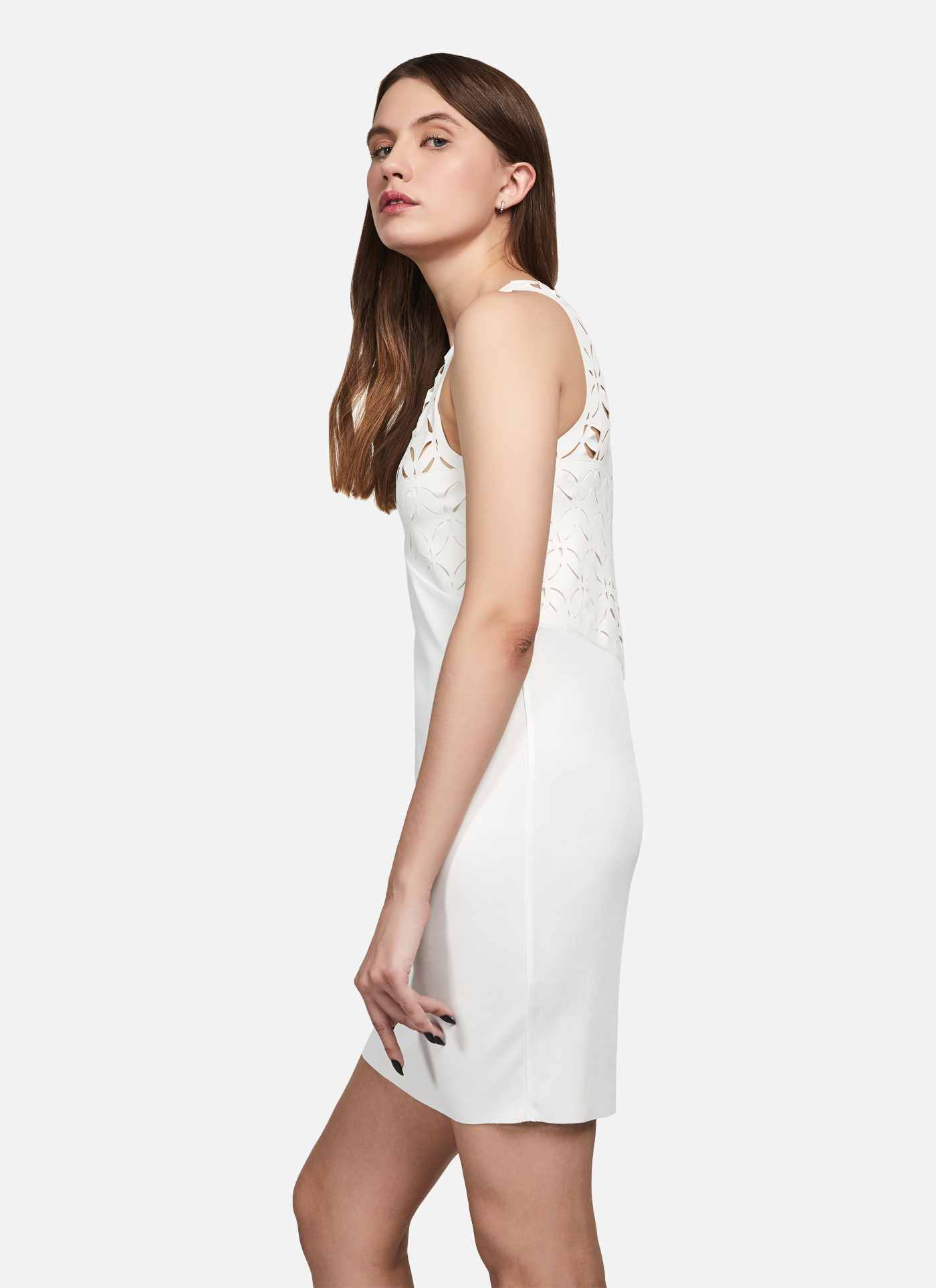 Home / ALL / TANK TOP DRESS IN WHITE VISCOSE